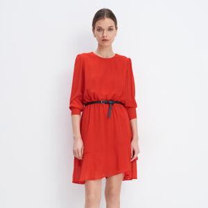 Mohito - Hladké šaty spáskem - Červená