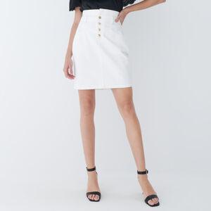 Mohito - Džínová sukně s knoflíky - Bílá