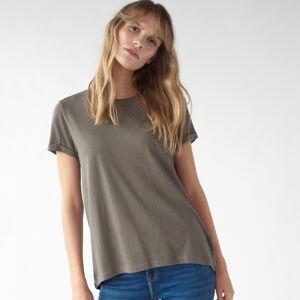 Mohito - Jednobarevné tričko - Khaki