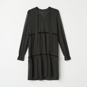 Mohito - Šaty s vázáním u výstřihu - Černý