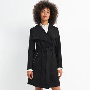 Mohito - Kabát s vázáním v pase - Černý
